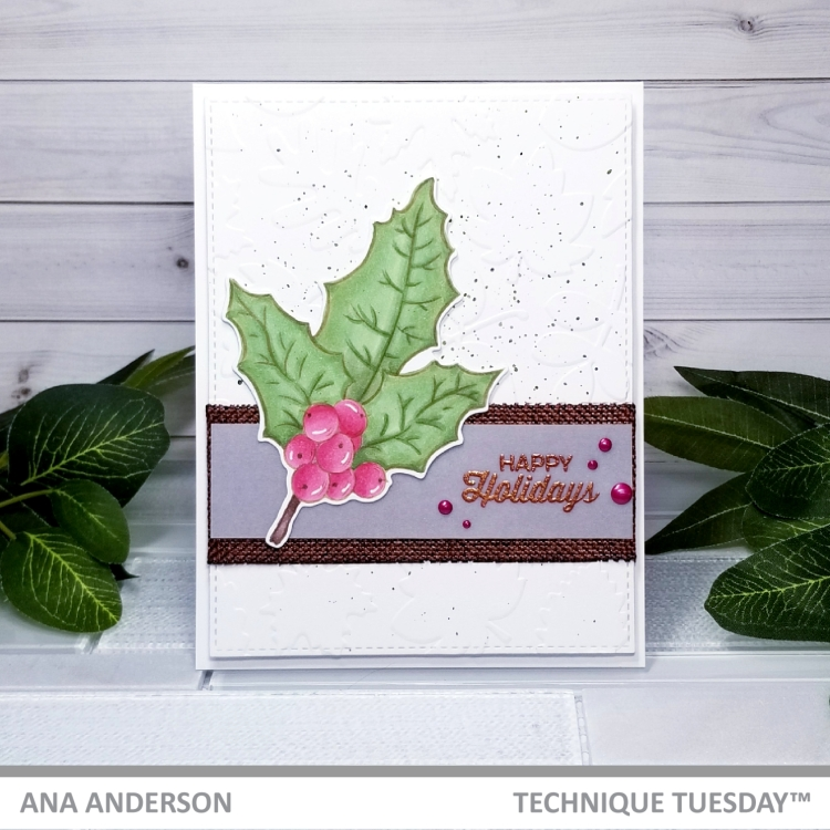 Ana A - Holly Stamp set1